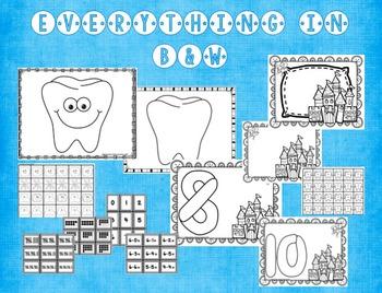 Teeth & Dental Health: Interactive Play Dough Mats, Math Centers & Printables