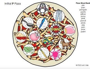 Interactive Play Dough Pizza Smash- Articulation