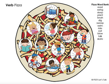 Interactive Play Dough Pizza - Language