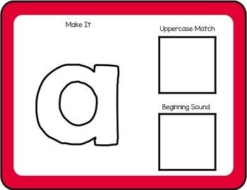 Interactive Playdough Alphabet Mats