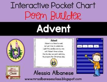 Interactive Pocket Chart {Poem Builder} - Advent