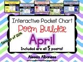 Interactive Pocket Chart {Poem Builder} BUNDLE - April
