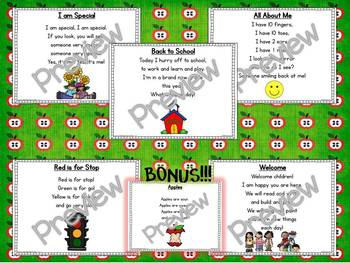 Interactive Pocket Chart {Poem Builder} BUNDLE - August & September