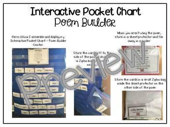 Interactive Pocket Chart {Poem Builder} BUNDLE - February