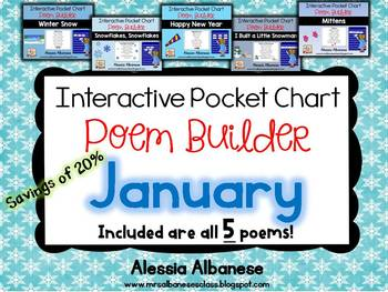 Interactive Pocket Chart {Poem Builder} BUNDLE - January