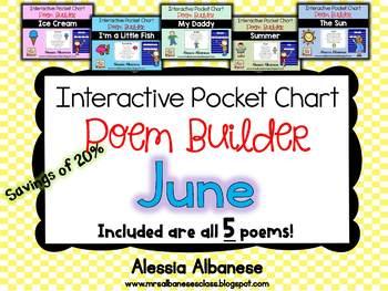 Interactive Pocket Chart {Poem Builder} BUNDLE - June