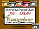 Interactive Pocket Chart {Poem Builder} BUNDLE - November