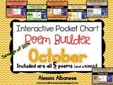 Interactive Pocket Chart {Poem Builder} BUNDLE - October