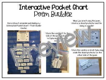 Interactive Pocket Chart {Poem Builder} BUNDLE - The Complete Set