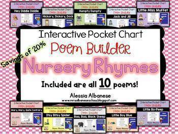 Interactive Pocket Chart {Poem Builder} BUNDLE - The Complete Set