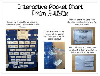Interactive Pocket Chart {Poem Builder} - I Built a Little Snowman