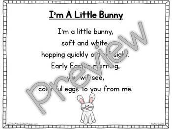 Interactive Pocket Chart {Poem Builder} - I'm A Little Bunny
