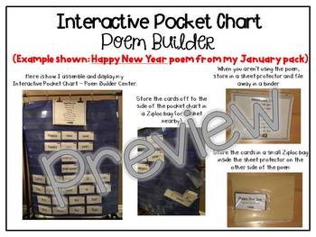 Interactive Pocket Chart {Poem Builder} - I'm a Little Ladybug
