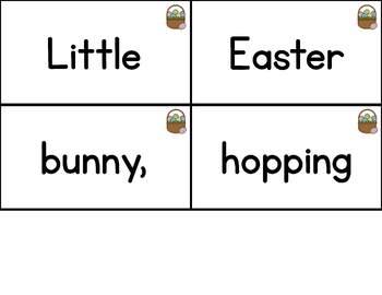 Interactive Pocket Chart {Poem Builder} - Little Easter Bunny