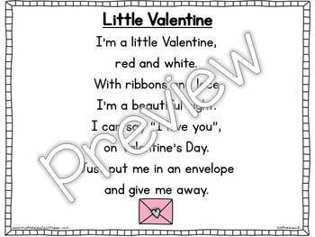 Interactive Pocket Chart {Poem Builder} - Little Valentine