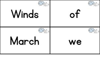 Interactive Pocket Chart {Poem Builder} - March Wind