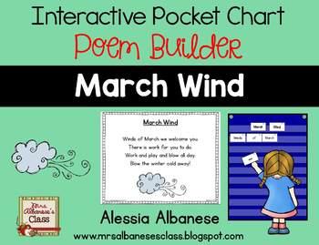 Interactive Pocket Chart {Poem Builder} - March Wind