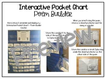 Interactive Pocket Chart {Poem Builder} - My Best Friend