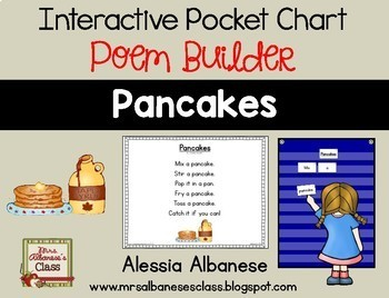 Interactive Pocket Chart {Poem Builder} - Pancakes