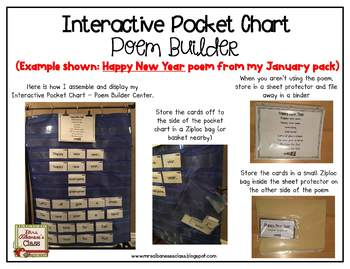 Interactive Pocket Chart {Poem Builder} - Plant a Flower