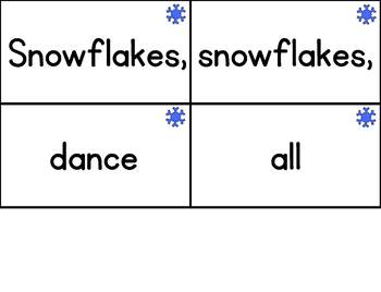 Interactive Pocket Chart {Poem Builder} - Snowflakes, Snowflakes