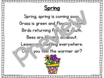Interactive Pocket Chart {Poem Builder} - Spring