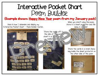 Interactive Pocket Chart {Poem Builder} - Spring is Here