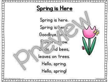 Interactive Pocket Chart {Poem Builder} - Spring is Here