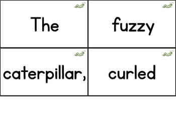 Interactive Pocket Chart {Poem Builder} - The Fuzzy Caterpillar