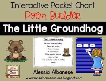 Interactive Pocket Chart {Poem Builder} - The Little Groundhog