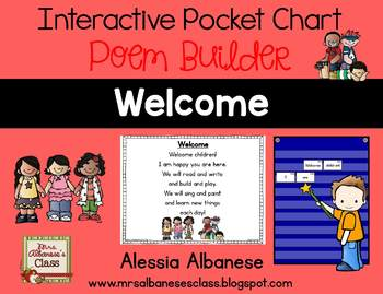 Interactive Pocket Chart {Poem Builder} - Welcome