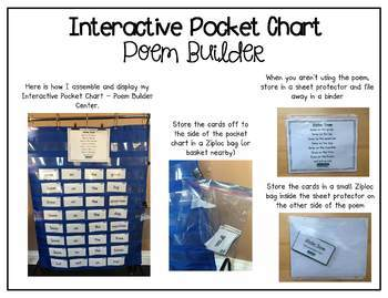 Interactive Pocket Chart {Poem Builder} - Winter Snow