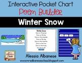 Interactive Pocket Chart {Poem Builder} - Winter Snow