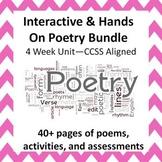 Interactive Poetry Bundle--4 Week Unit