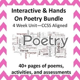 Interactive Poetry Bundle--4 Week Unit