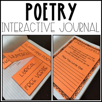 Interactive Poetry Journal Materials