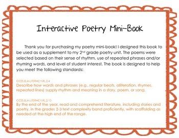 Interactive Poetry Mini-Book