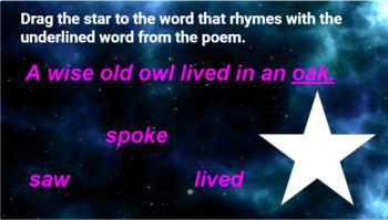 Interactive Poetry Mini lesson Activities