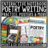 Poetry Interactive Notebook Poem Activities- Poetry Writin