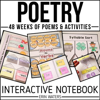 Interactive Poetry Notebook Bundle {48 Weeks of K-2 Poems & Activities}