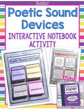 Interactive Poetry Notebooks ~ FREE Bonus Lesson: Poetic Sound Devices
