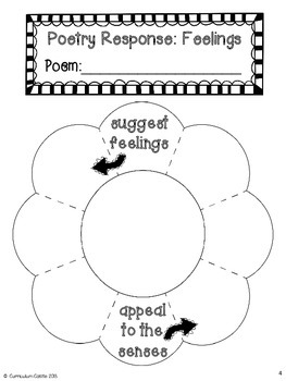 interactive notebook poetry response for 1st and 2nd grade freebie. Black Bedroom Furniture Sets. Home Design Ideas