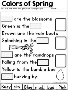 No Prep Poetry SPRING