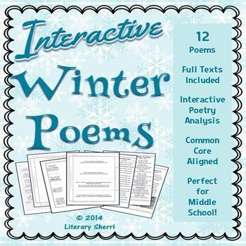Winter Poems: Interactive Poetry Analysis (Grades 6, 7, 8)