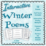 POETRY: WINTER POEMS, Interactive Poetry Analysis, Poetry Writing