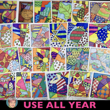 Interactive Coloring: Designs for Spring Activities, Easte