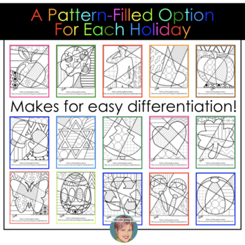 BIG Collection of Interactive Coloring Pages for All Occasions - incl. Christmas