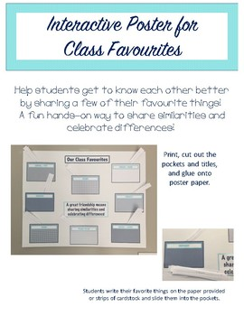 Interactive Poster - Class Favourites