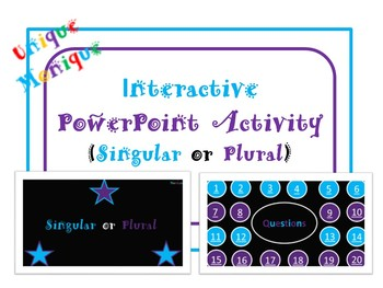 Interactive PowerPoint Activity (Singular or Plural)