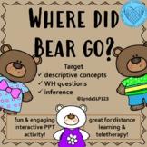 Interactive PowerPoint Describing Bears Making Inferences
